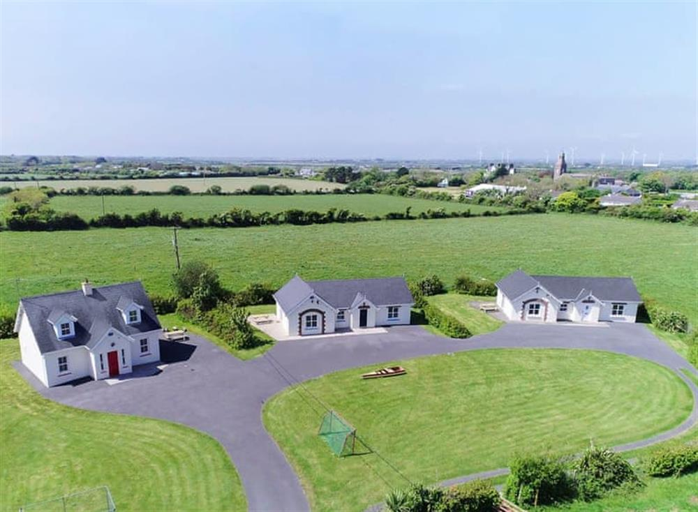 Aerial view of Kilmore Cottages