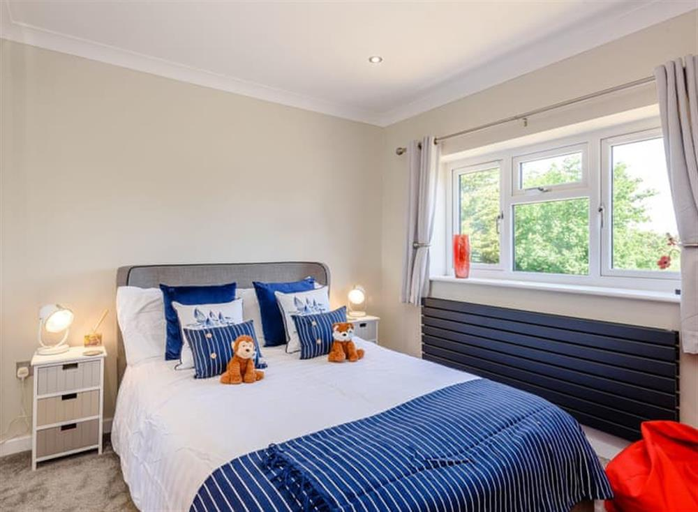 Comfortable double bedroom at Kingfisher Lodge in Horning, Norfolk