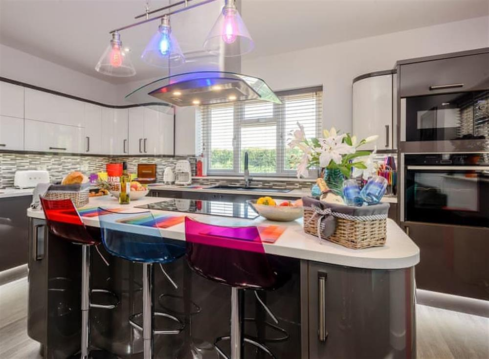 Contemporary styled kitchen at Kingfisher Lodge in Horning, Norfolk