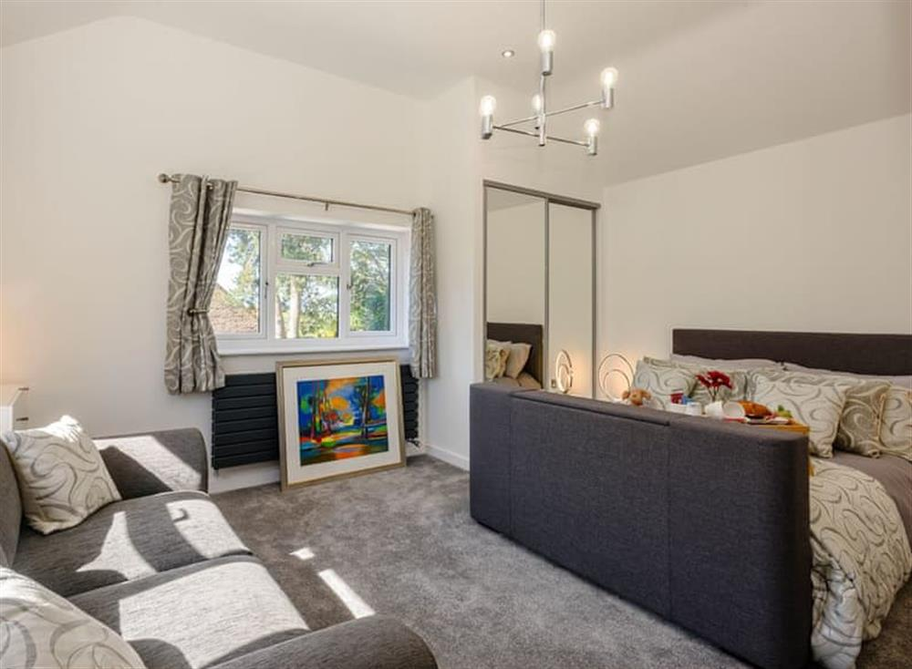 Sumptuous double bedroom at Kingfisher Lodge in Horning, Norfolk