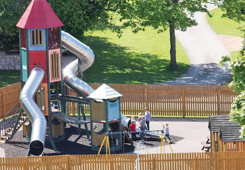 Children's play area at Lady's Mile Holiday Park in Dawlish Warren, Devon