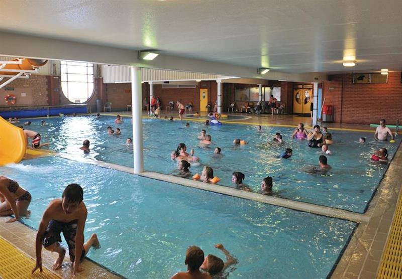 Indoor pool at Lady's Mile Holiday Park in Dawlish Warren, Devon