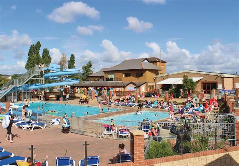 Outdoor pool at Lady's Mile Holiday Park in Dawlish Warren, Devon