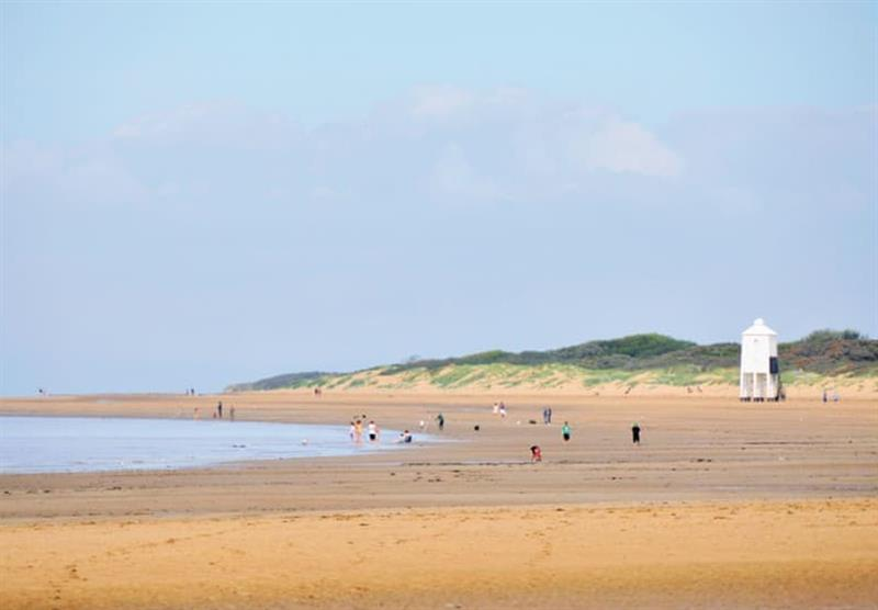Glorious beaches nearby at Lakeside Holiday Park in Burnham-on-Sea, Somerset