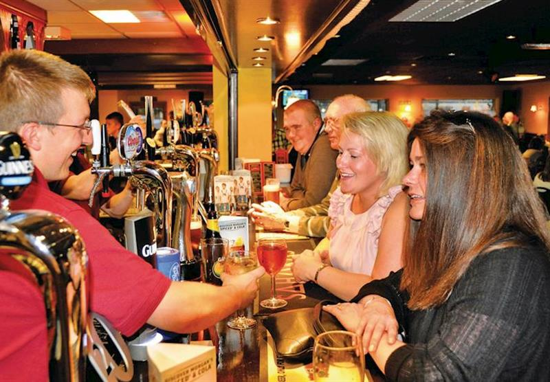 Great atmoshphere in the bar at Lakeside Holiday Park in Burnham-on-Sea, Somerset