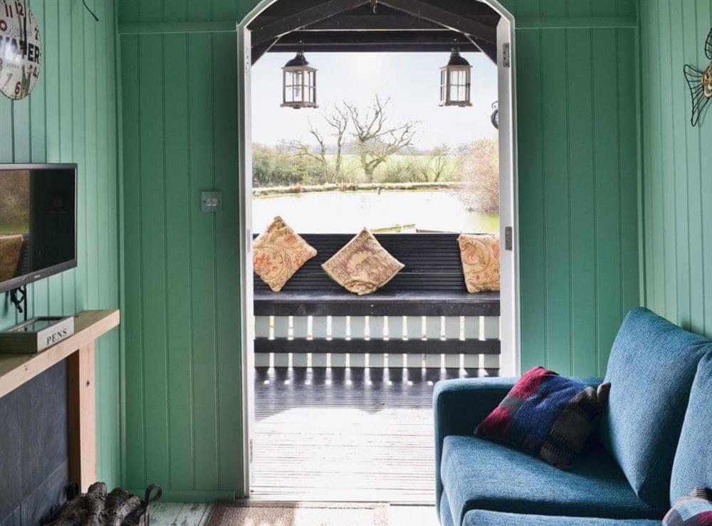 Living room at Lakeside Hut in Gillingham, Dorset
