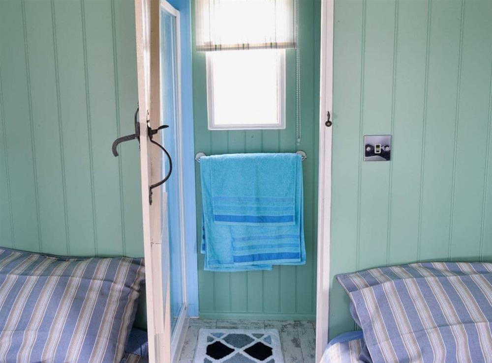 Shower room at Lakeside Hut in Gillingham, Dorset
