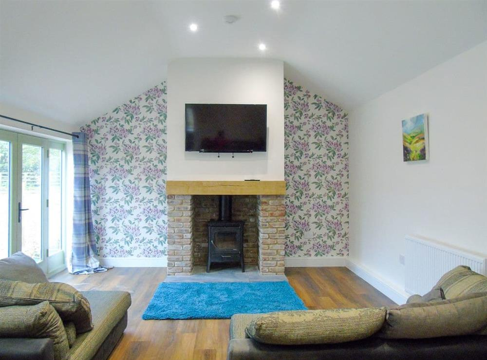 Living area at Lane End Cottage in Upleatham, near Saltburn-by-the-Sea, Cleveland