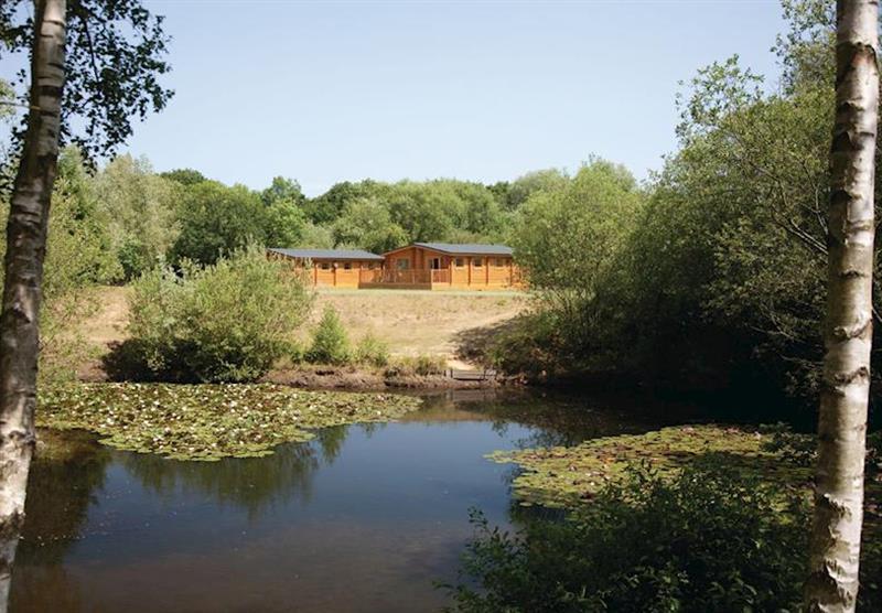Mallard and Widgeon lodges at Langmere Lakes Lodges in , Frettenham