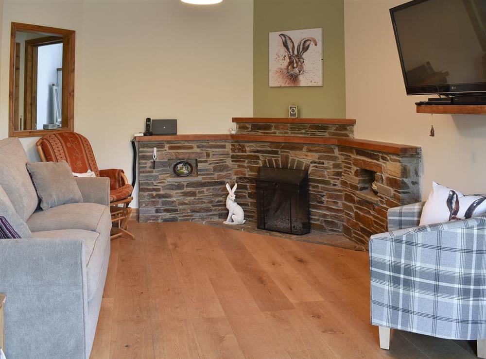 Living room at Lansdowne in Walkhampton, near Tavistock, Devon