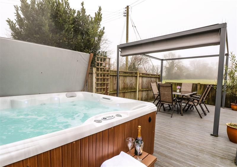 Spend some time in the hot tub at Lark Rise, Salhouse near Wroxham