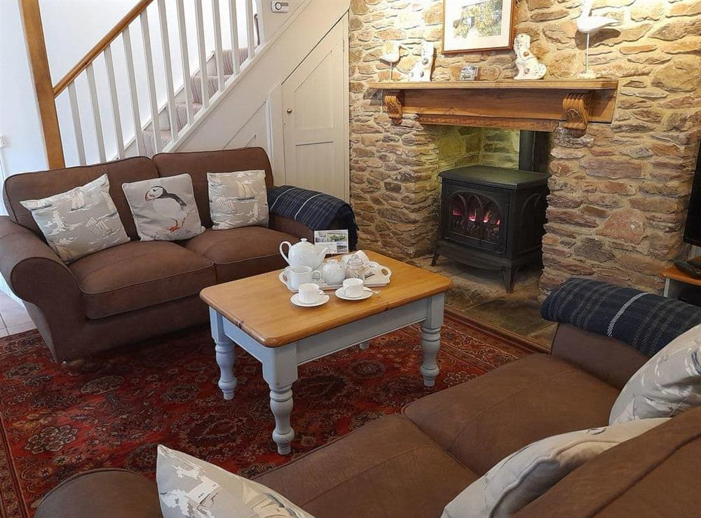 Living room at Laurel Cottage in Stoke Gabriel, South Devon., Great Britain