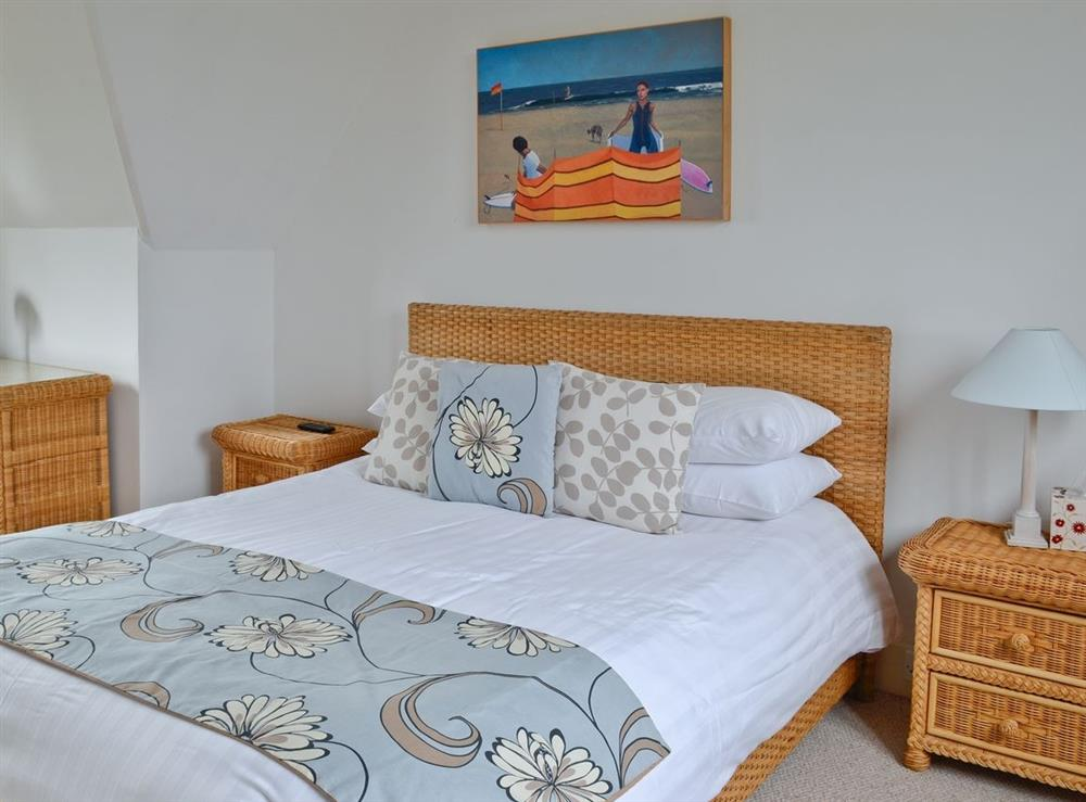 Double bedroom at Lauriston House in Dartmouth, Devon., Great Britain
