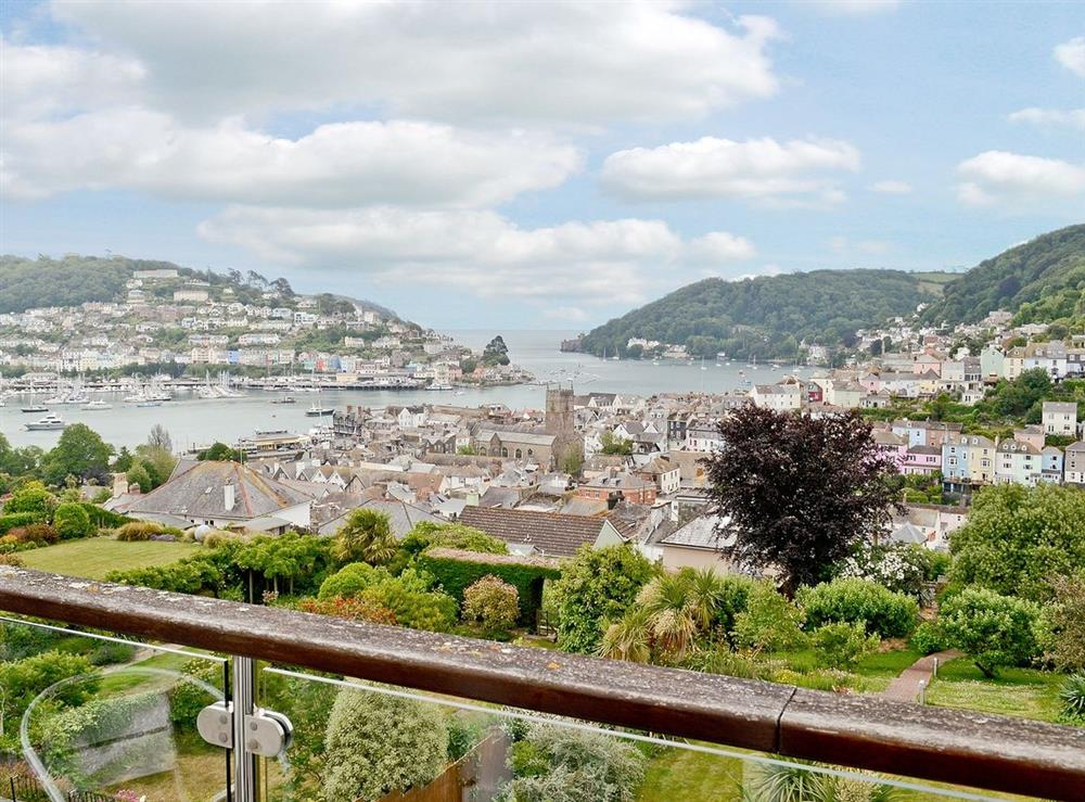 View From Balcony at Lauriston House in Dartmouth, Devon., Great Britain