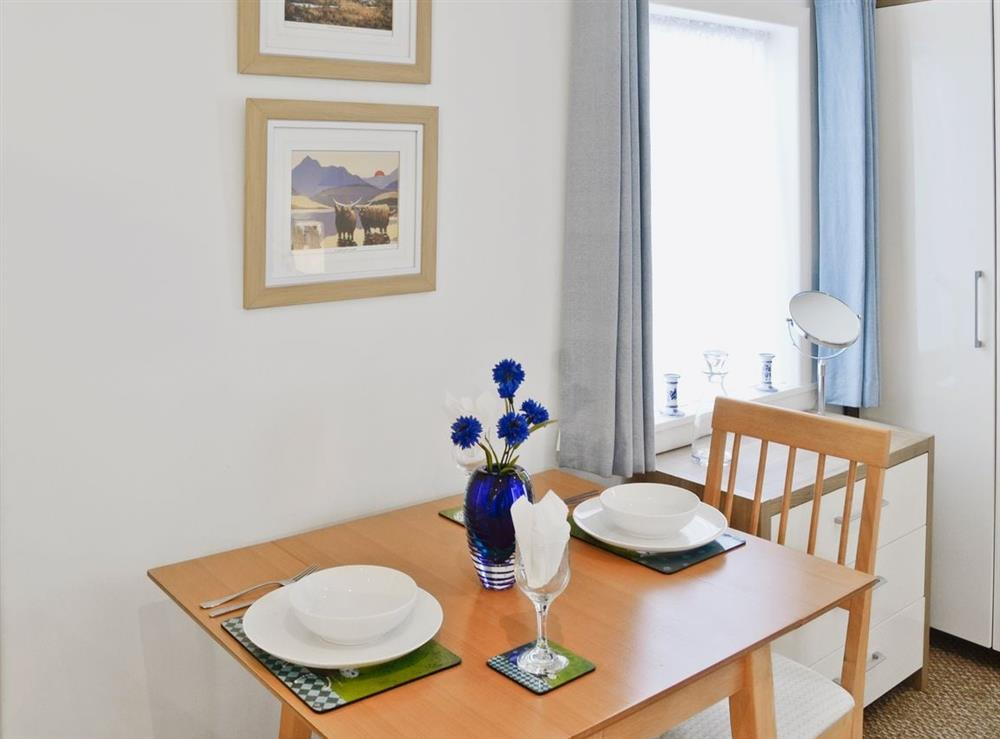 Dining Area at Learig Cottage in Girvan, Ayrshire