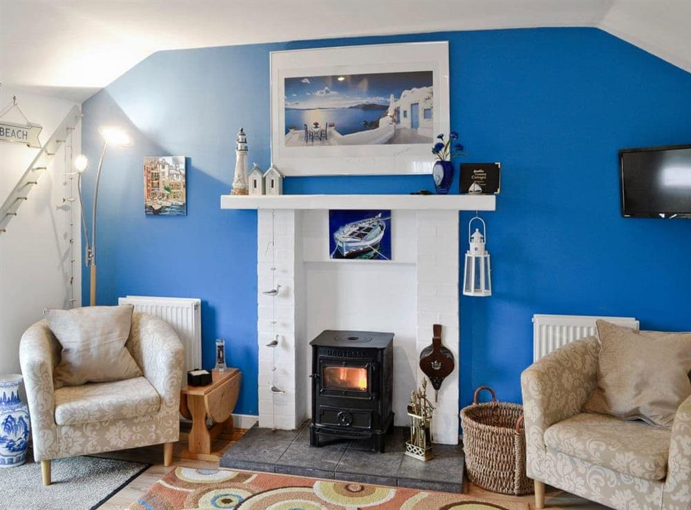 Living room at Learig Cottage in Girvan, Ayrshire