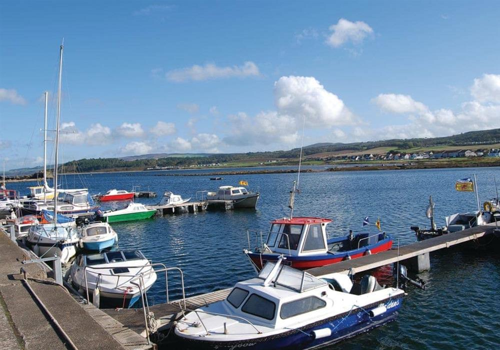 Maidens harbour at Learig Cottage in Girvan, Ayrshire