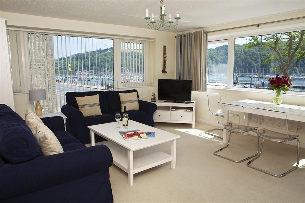 Open plan lounge area with lovely views over the River Dart at Leeside in , Dartmouth