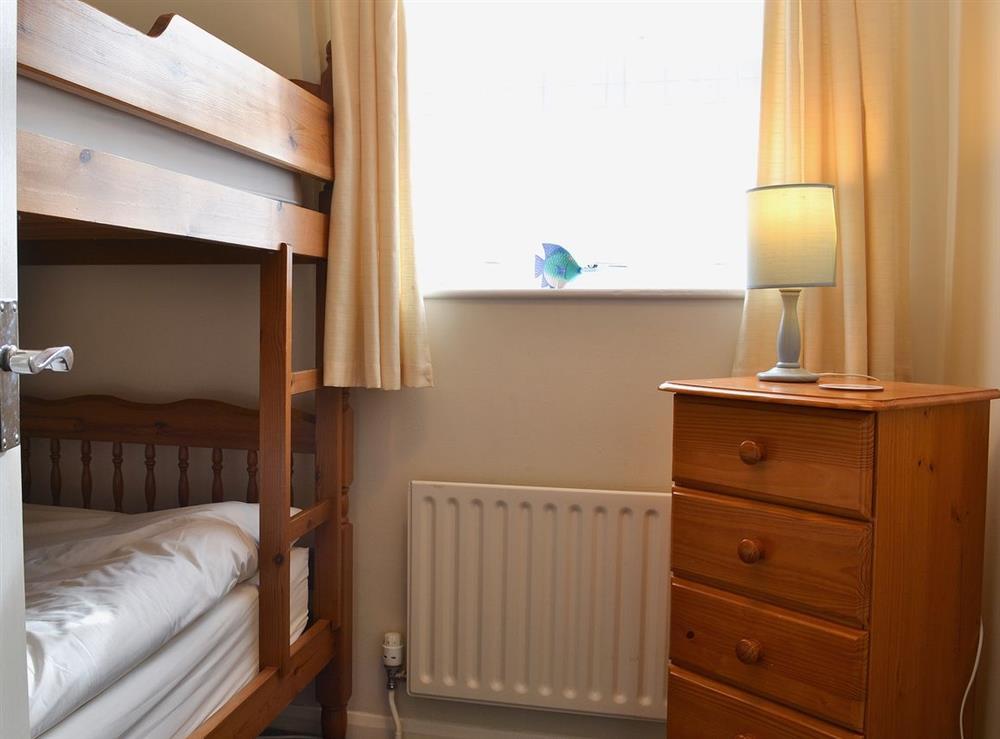 Bunk bedroom at Leeward Cottage in Wells-next-the-Sea, Norfolk, Great Britain