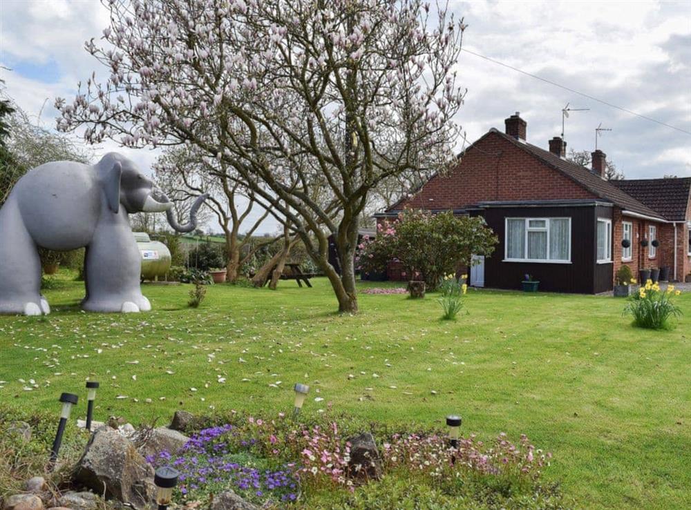 Garden at Lenas Lodge in Camer's Green, Berrow, near Malvern, Worcestershire