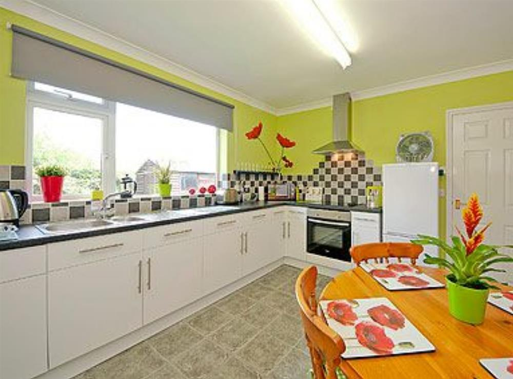 Kitchen/diner at Lenas Lodge in Camer's Green, Berrow, near Malvern, Worcestershire