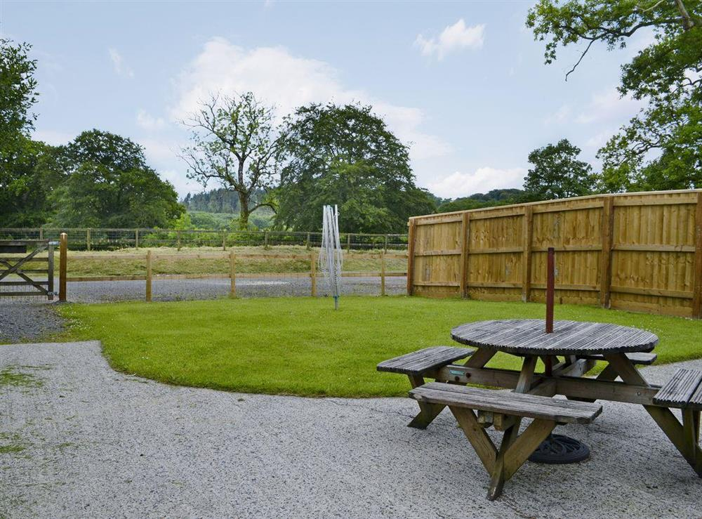 Large, private garden area at Mole End,