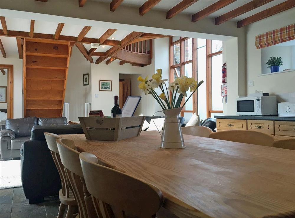 Open plan living/dining room/kitchen at Otters Den,
