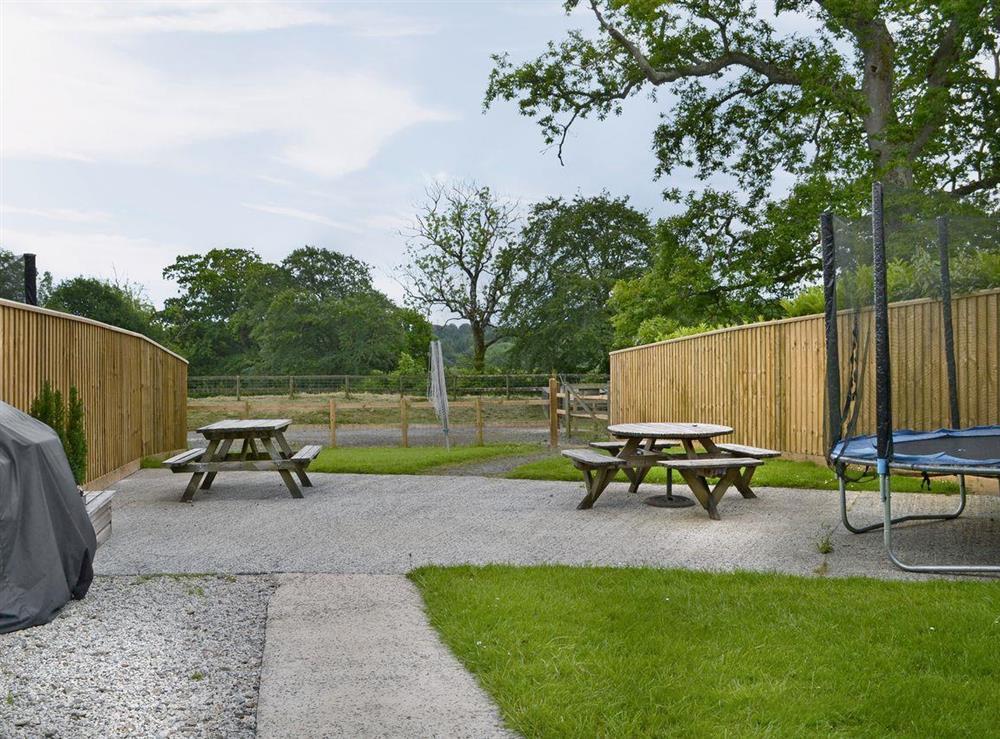 Spacious garden area at Otters Den,