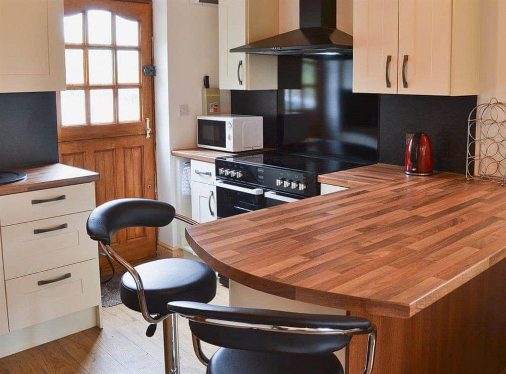Open plan living/dining room/kitchen at Libbys Lodge in Pentre, near Llangollen, Clwyd