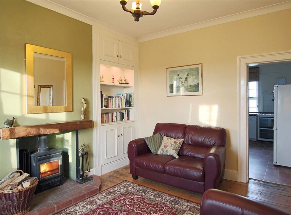 Living room at Lighthouse Cottage in Happisburgh, Nr Cromer, Norfolk., Great Britain