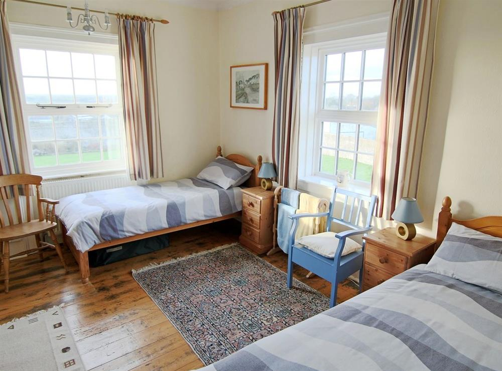 Twin bedroom at Lighthouse Cottage in Happisburgh, Nr Cromer, Norfolk., Great Britain