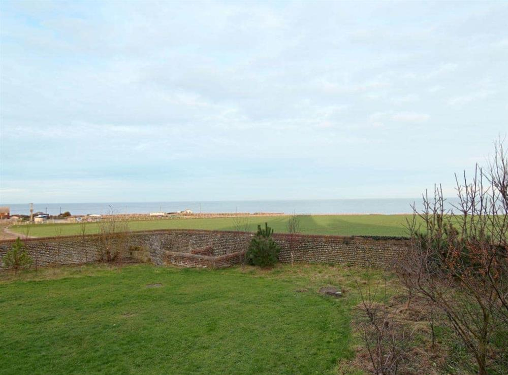 View at Lighthouse Cottage in Happisburgh, Nr Cromer, Norfolk., Great Britain