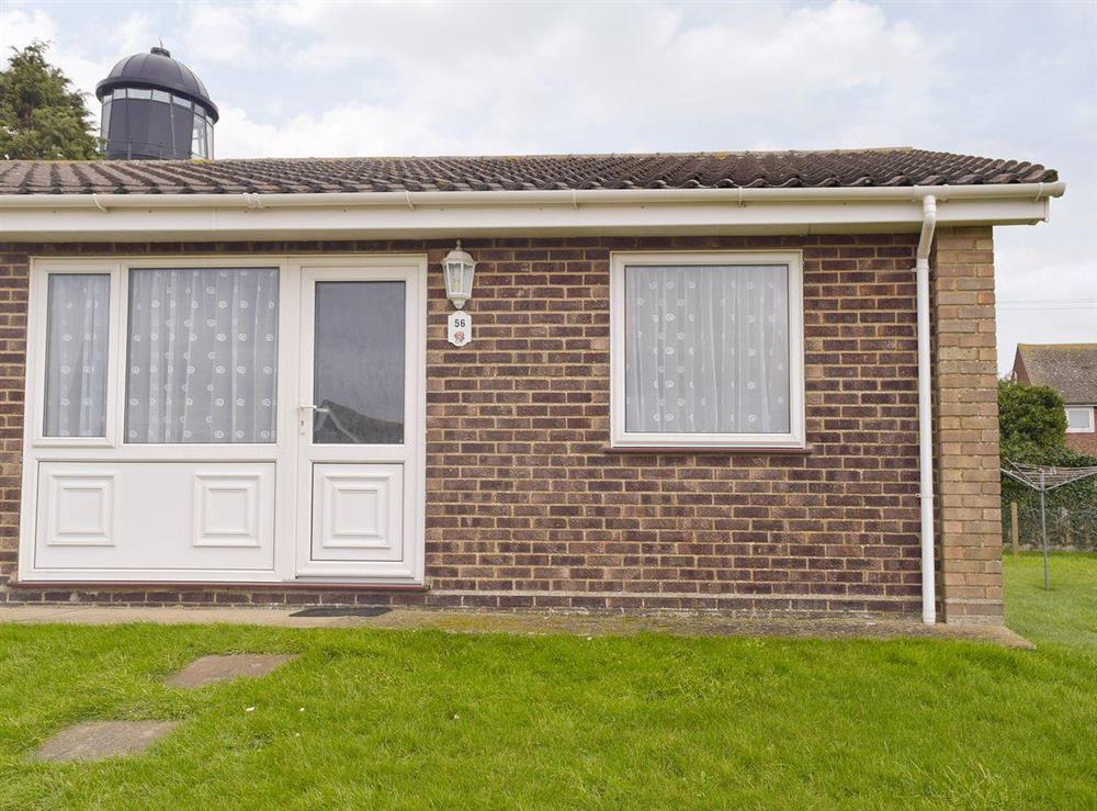 Holiday cottage façade at Lighthouse View in Winterton-on-Sea, near Great Yarmouth, Norfolk
