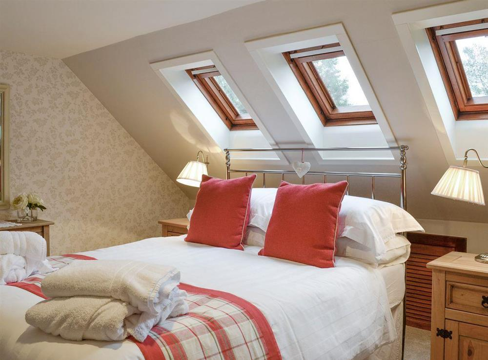 Comfortable double bedroom at Lilac Bank Cottage in Crosshill, near Maybole, Ayrshire