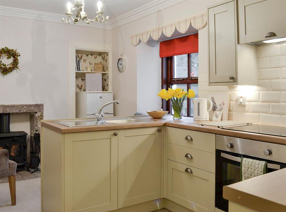 Well equipped kitchen at Lilac Bank Cottage in Crosshill, near Maybole, Ayrshire