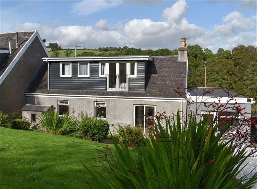 Exterior at Linnville in Kirkfieldbank, near Lanark, Lanarkshire