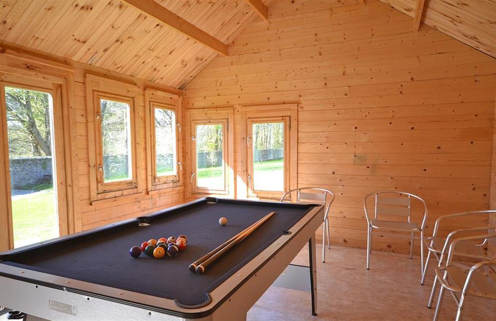 The games room at Little Barley, Modbury