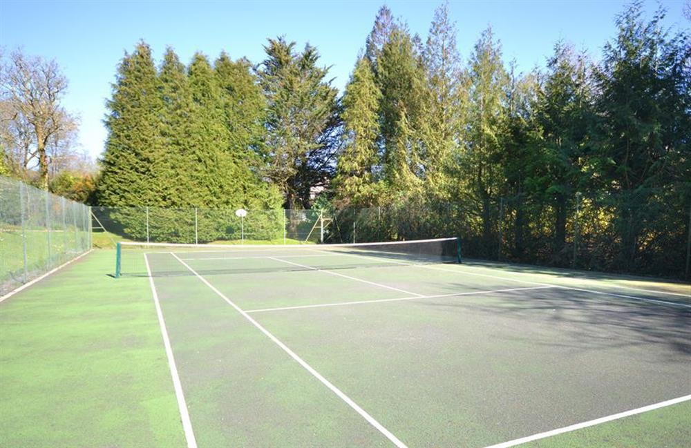The tennis court at Little Barley, Modbury