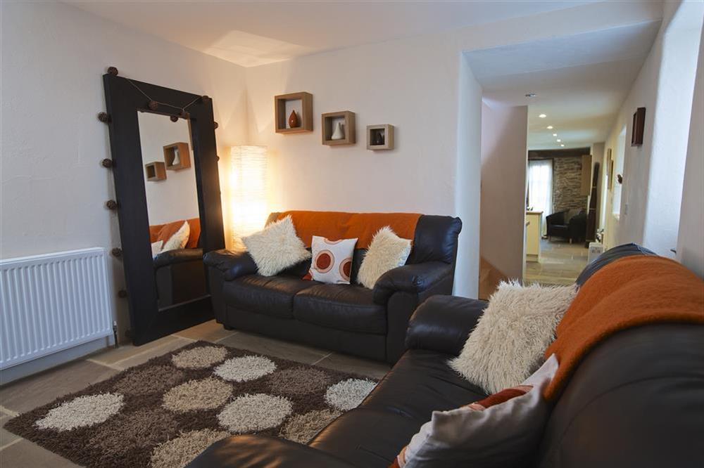 Cosy lounge at Little Cotton Barn in Venn Lane, Nr Dartmouth