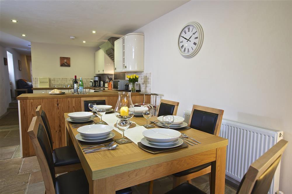 Dining and kitchen area at Little Cotton Barn in Venn Lane, Nr Dartmouth