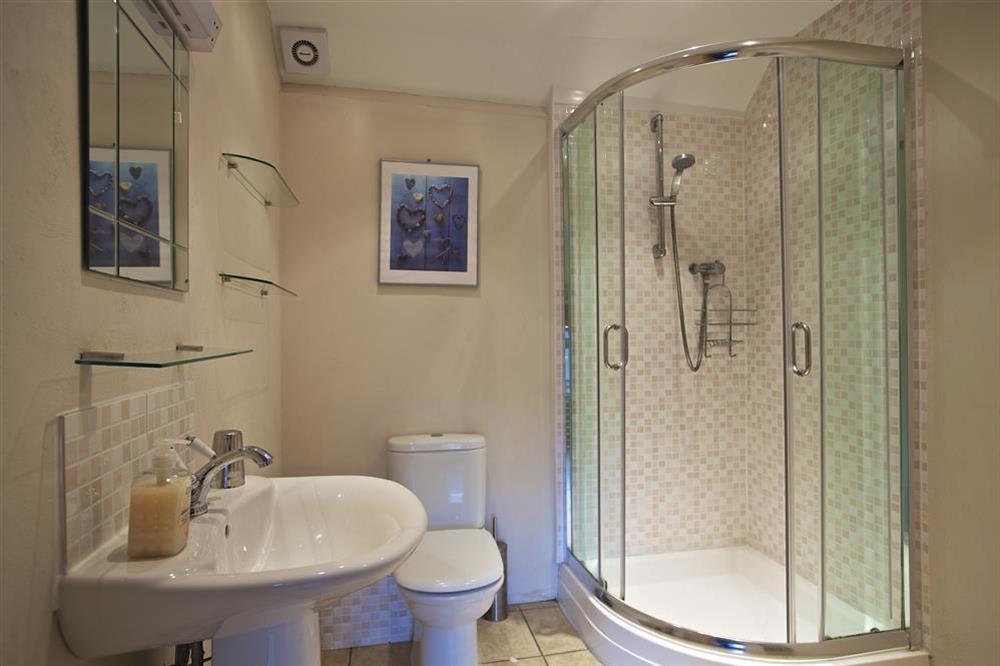 En suite bathroom at Little Cotton Barn in Venn Lane, Nr Dartmouth