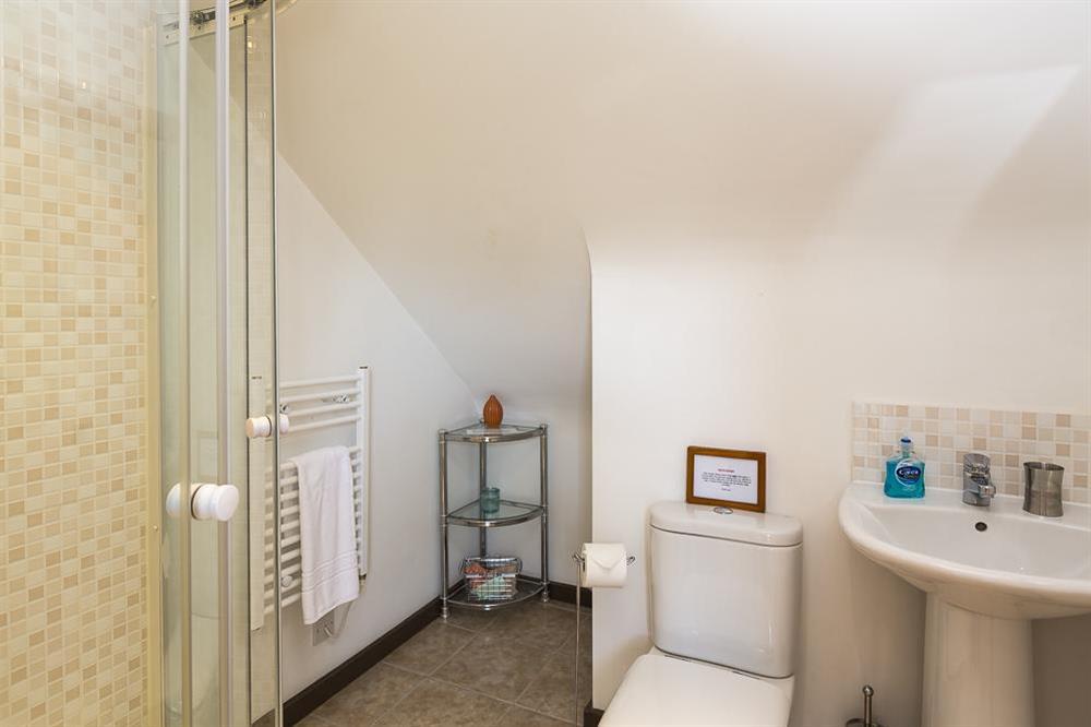 Second floor shower room at Little Cotton Farmhouse in Venn Lane, Nr Dartmouth