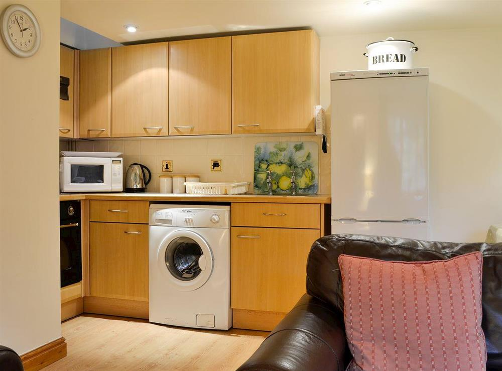 Compact kitchen area at Leonards Cottage,
