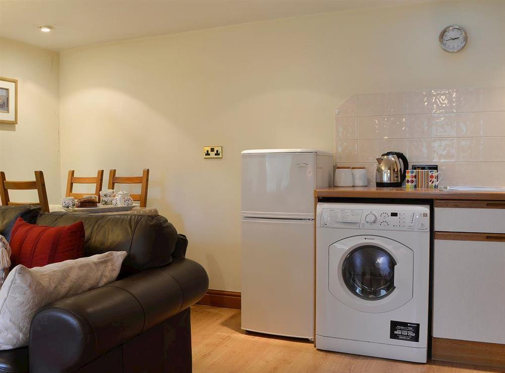 Conveniently situated kitchen area at Upton Cottage,