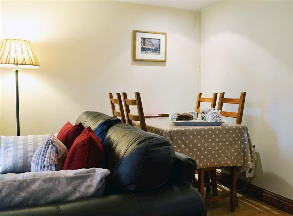 Modest dining area at Upton Cottage,