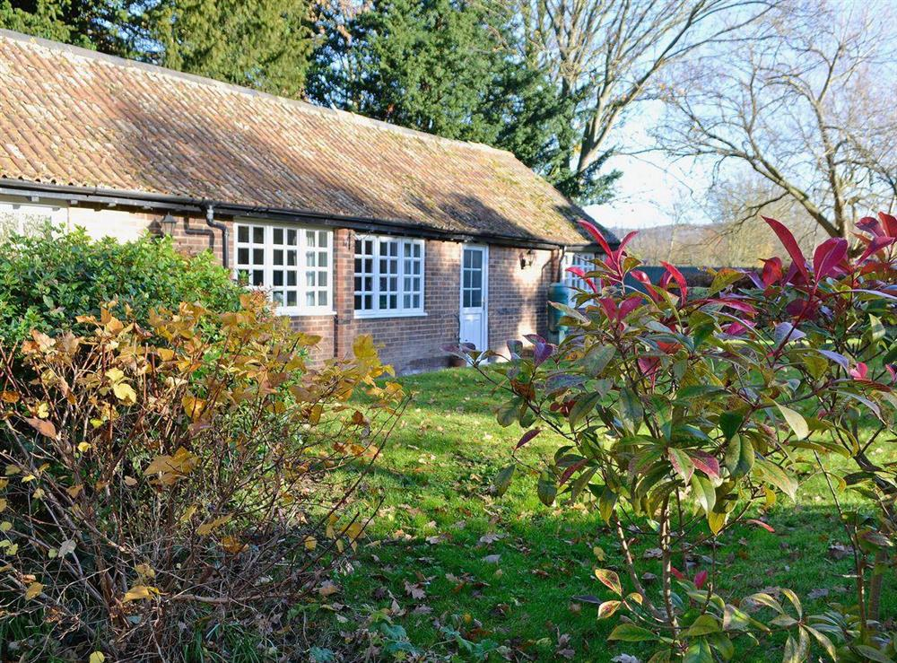 Well-tended garden and grounds at Upton Cottage,