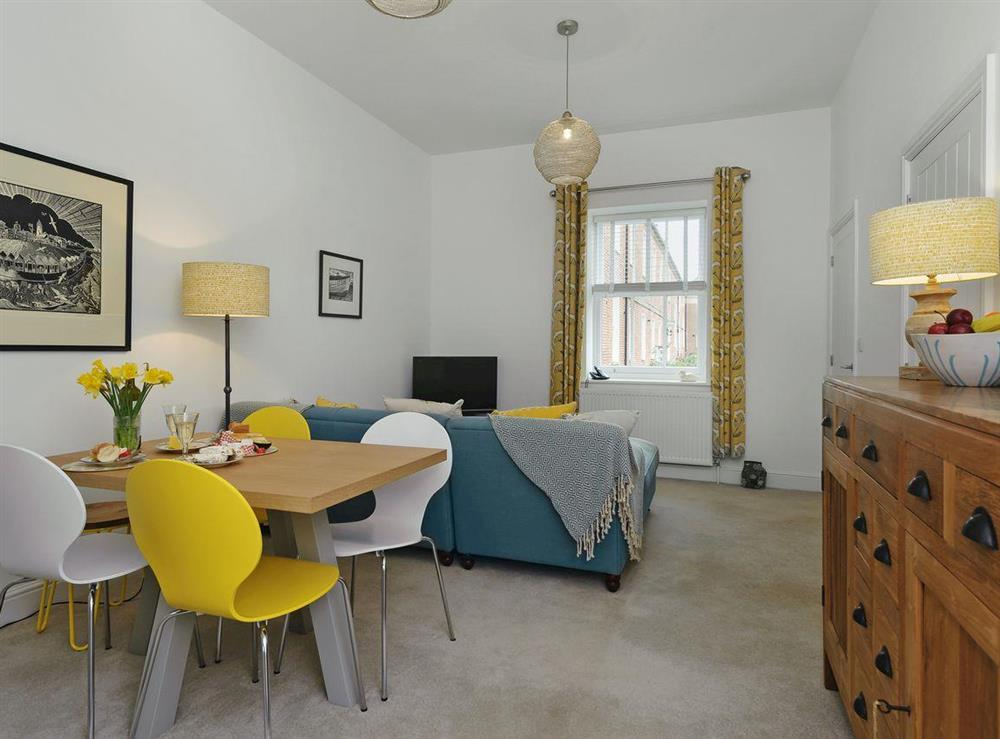 Stylishly furnished living/dining room at Little Tern in Blyford, near Southwold, Suffolk