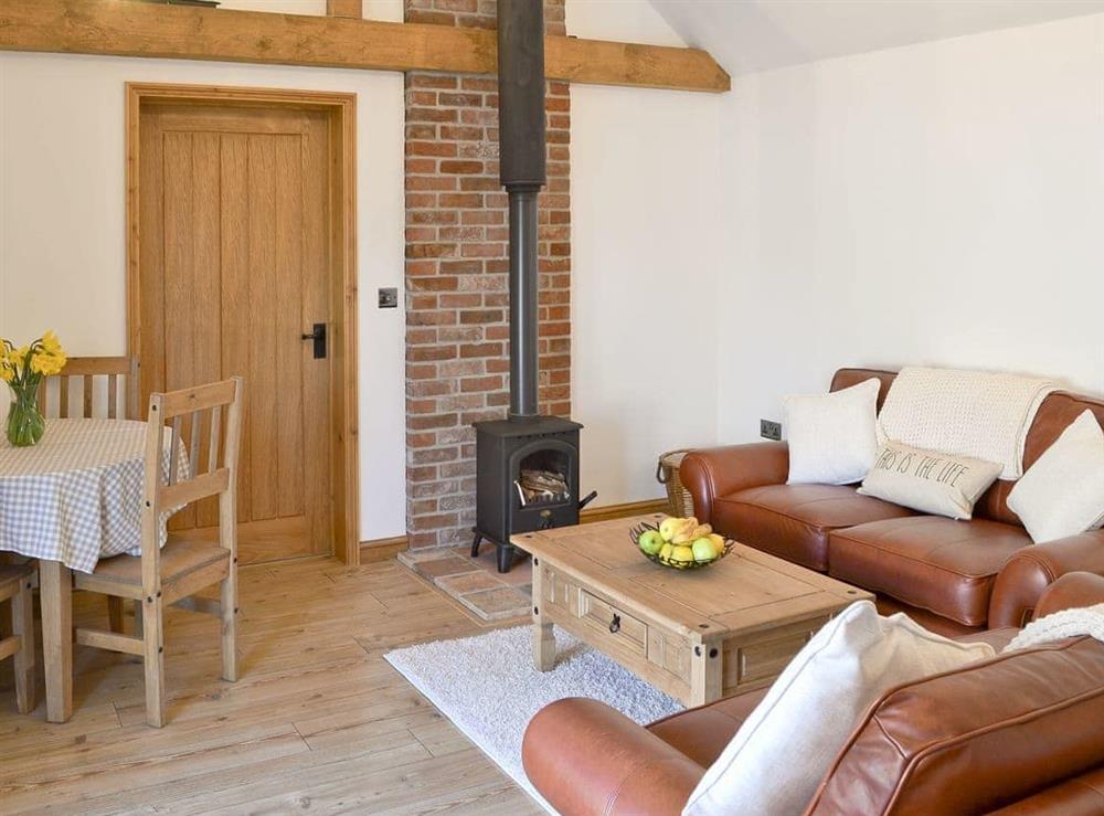 Cosy open plan style living area at Little Tree Cottage in Skeyton, near Norwich, Norfolk