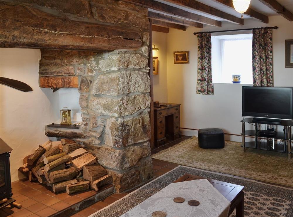 Living room at Llwyn Onn in Llangian, near Abersoch, Gwynedd