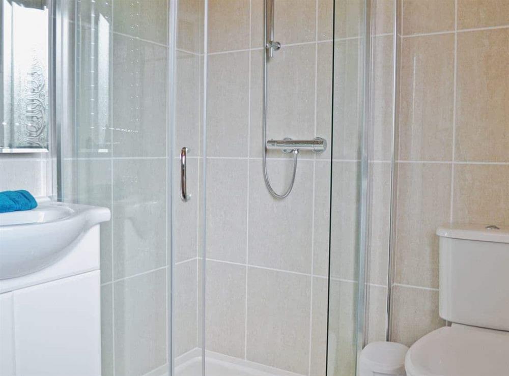 Shower room at Llwynbedw in St Dogmaels, near Cardigan, Dyfed